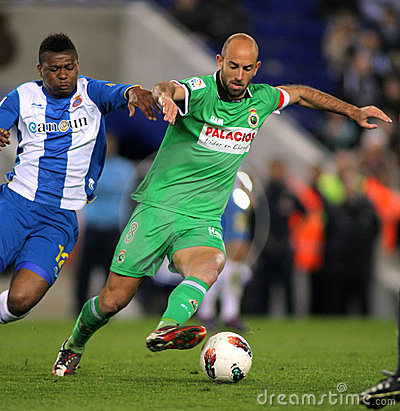 Gonzalo Colsa of Racing de Santander Editorial Photo