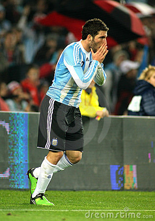 Gonzalo Higuain of Argentina Editorial Stock Image