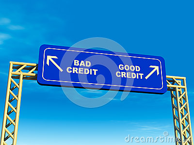 Loan For Bad Credit >> Good Or Bad Credit Path Stock Image - Image: 26841511
