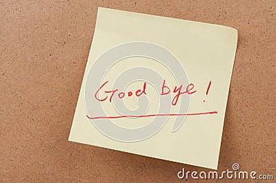Good bye words
