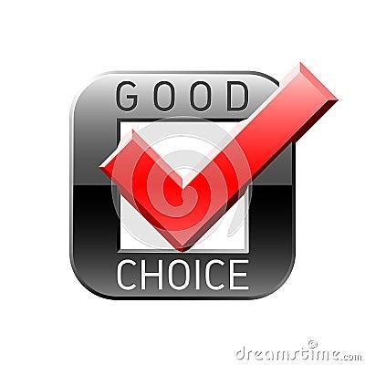 Free Good Choice Tick Stock Photography - 8181972