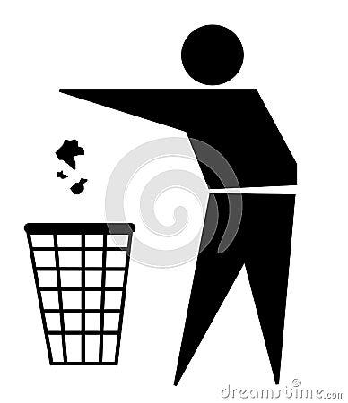 A good citizen: trash sign