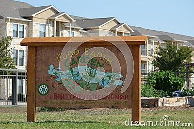 Good Earth Garden Sign