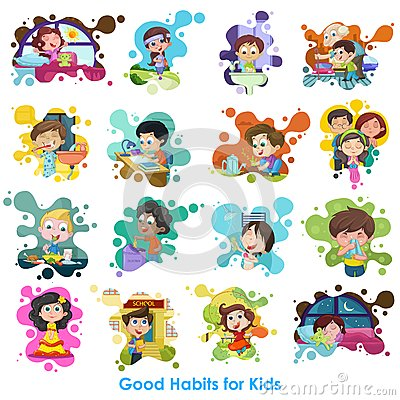 Free Good Habits Chart Royalty Free Stock Images - 33915949