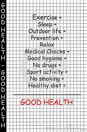 Good health concept