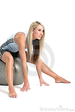 Good looking blond working out