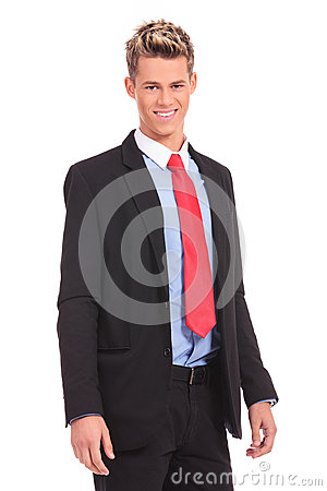 Good looking casual young businessman