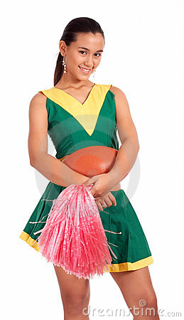 Good-looking cheerleader