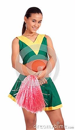 Good-looking cheerleader