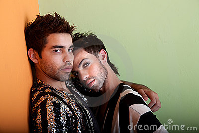 Good looking and sexy gay couple