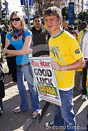 Good Luck Message for Bafana Bafana Editorial Photography