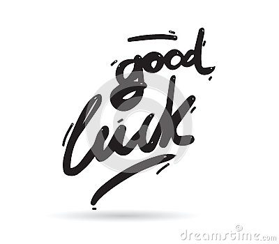 Good Luck Phrase For Greeting Cards And Print Elements Hand Drawn – Good Luck Cards to Print
