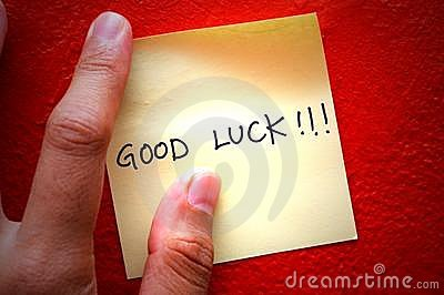 Good Luck Post-It Note