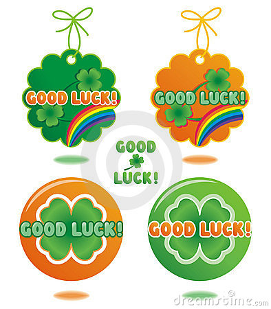 Good Luck tags and buttons