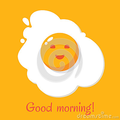 Good morning. Egg breakfast Vector Illustration