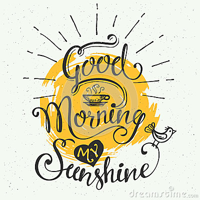 Free Good Morning My Sunshine Royalty Free Stock Images - 60024509