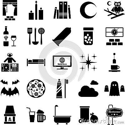 Good night icons