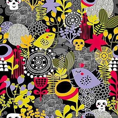 Good night seamless pattern.