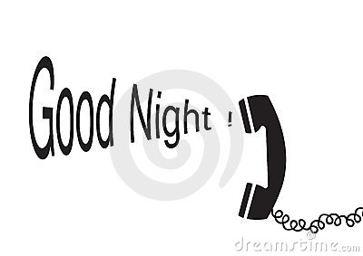 Good night - vector