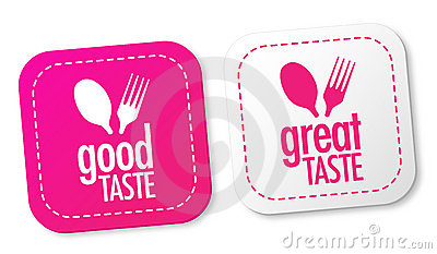 Good taste and Great taste stickers