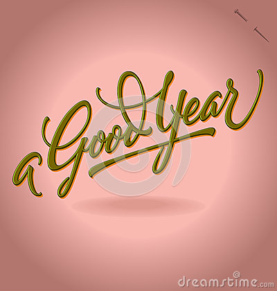 A Good Year hand lettering (vector)