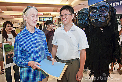 Goodall to visit Taiwan Taoyuan International Airp Editorial Image