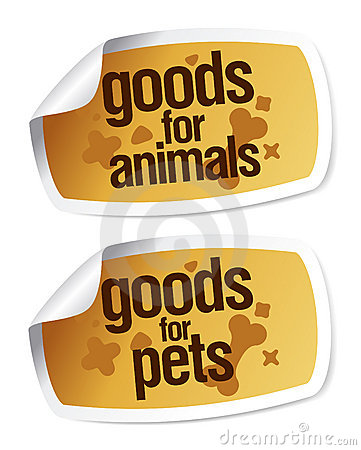 Goods For Pets Stickers Stock Photo - Image: 17988120