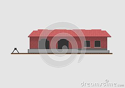 Goods shed Vector Illustration