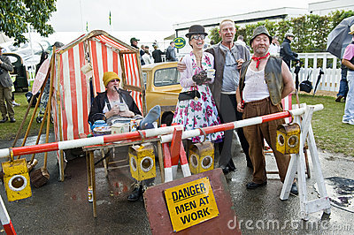 Goodwood revival visitors. Editorial Photography
