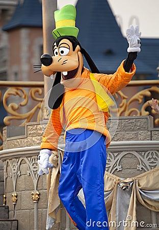 Goofy de Walt Disney Image stock éditorial