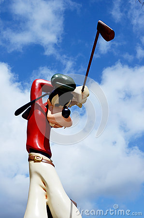 Disney Goofy golfer Editorial Image