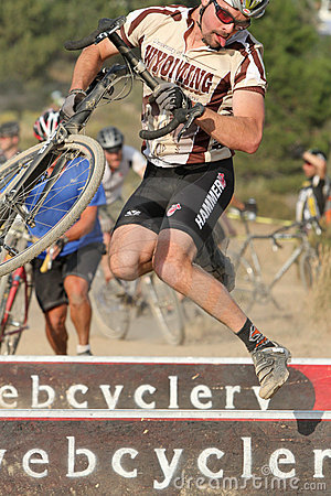 Goofy Face in Cyclocross Race Editorial Image