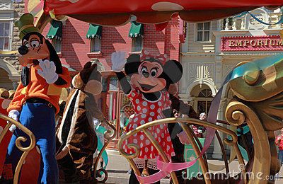 Goofy and Minnie Mouse Editorial Image