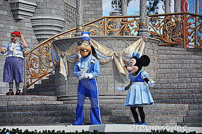 Goofy and Minnie Mouse in Disney World Editorial Photography