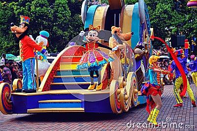Goofy, pluto, de eend van Donald & minnie muis Redactionele Stock Afbeelding