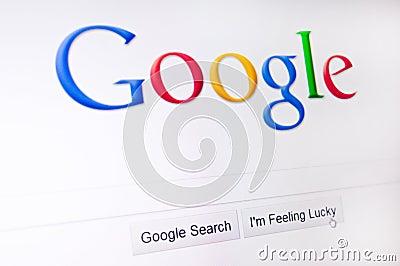 Google Redaktionell Arkivbild