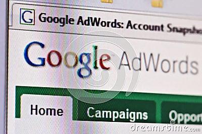 Google adwords Editorial Stock Photo