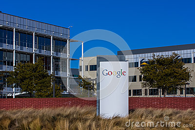 google corporate headquarters and logo editorial image image 37433885