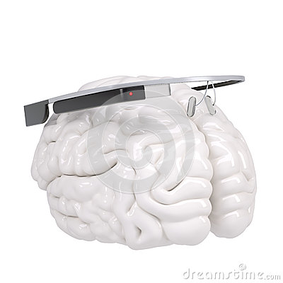 Google Glass and brain