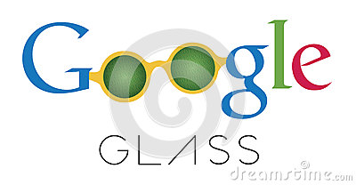 Google Glass sketch logotype Editorial Photography