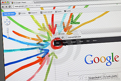 Google+ - Google Plus - the new social network Editorial Stock Photo