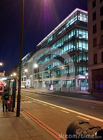 Google Head Office In London Uk At Night Editorial Image