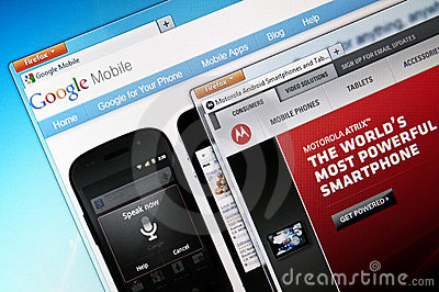 Google Mobile and Motorola Mobility Editorial Stock Image