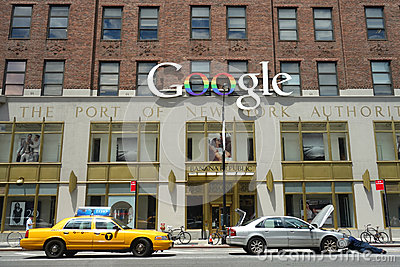 Google New York Offices Editorial Stock Photo