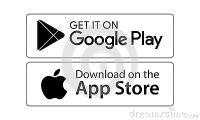 Google play app store icons Vector Illustration