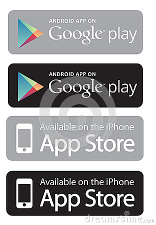 Google play and app store Vector Illustration