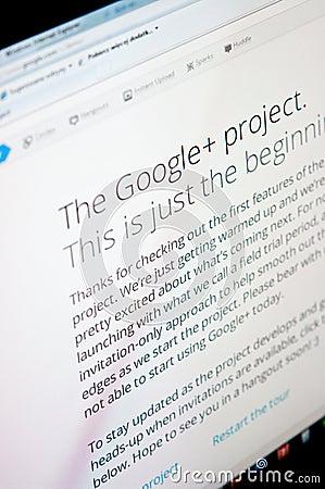 Google plus Editorial Image