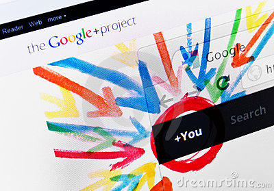 Google Plus Editorial Stock Image