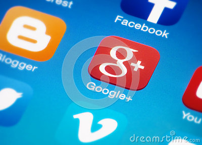 Google plus Editorial Stock Photo