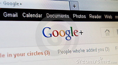 Google+ plus project Editorial Stock Image
